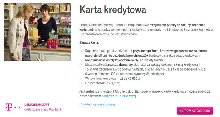 karta kredytowa T-Mobile