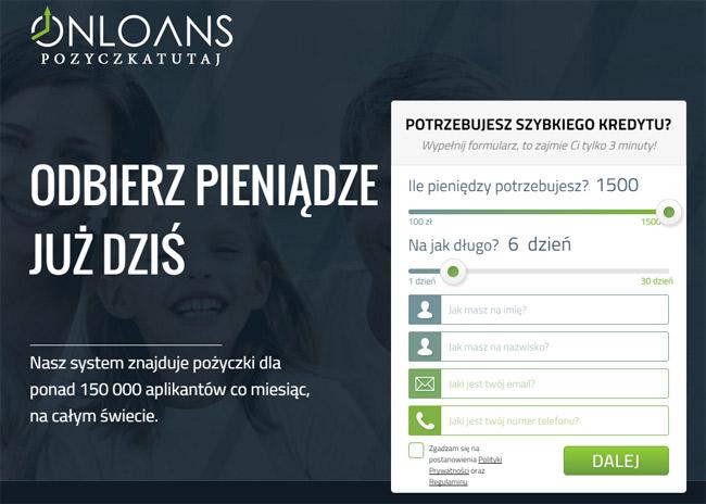 Onloans PożyczkaTutaj