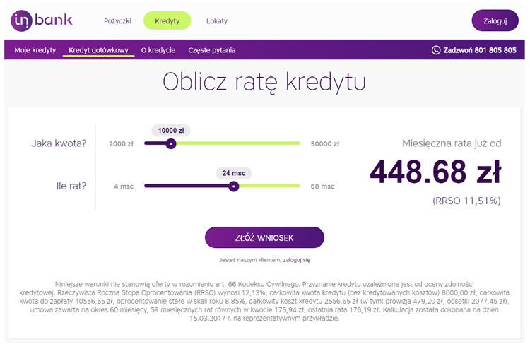 Inbank kredyt przez internet