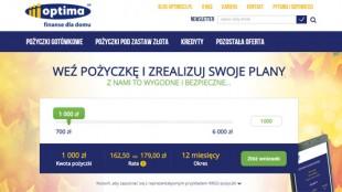 Pożyczki Optima przez internet