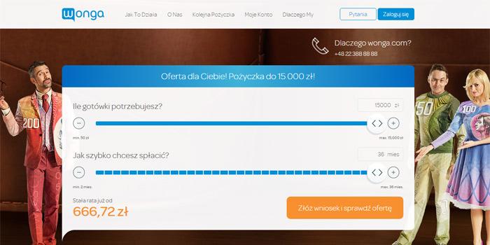 wonga pożyczki online na raty