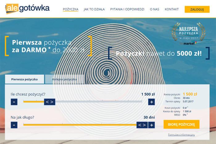 Pierwsza pożyczka za darmo 2000 zł