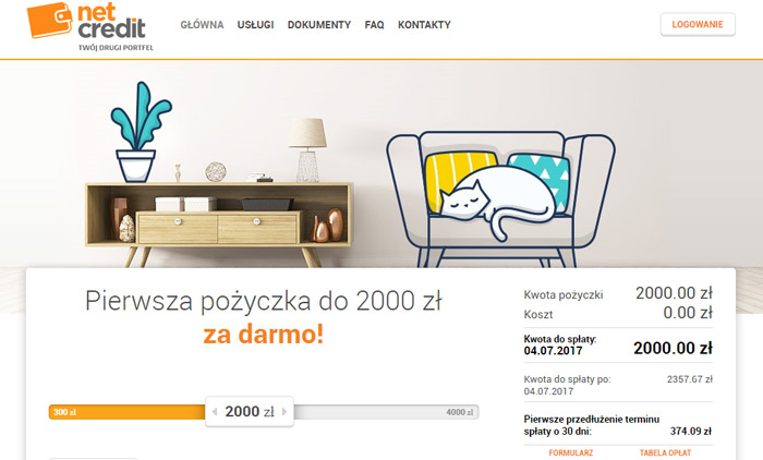 netcredit pożyczka internetowa