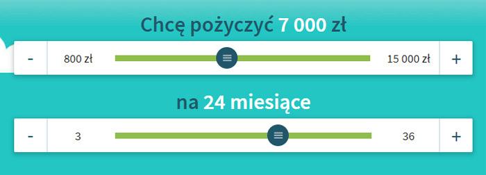 Korzystne Pożyczki 7000 zł na 24 m-ce