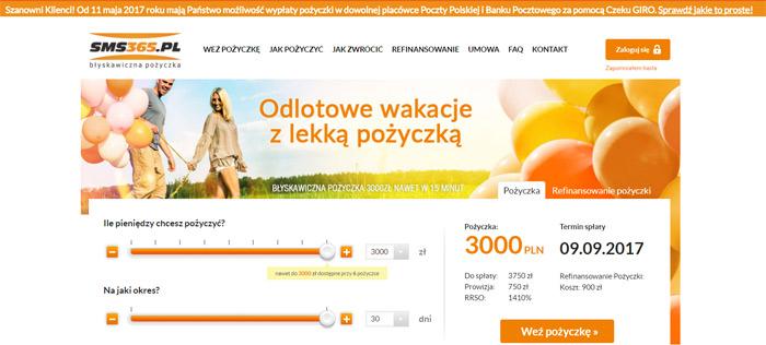 Pożyczki bez konta bankowego w SMS365