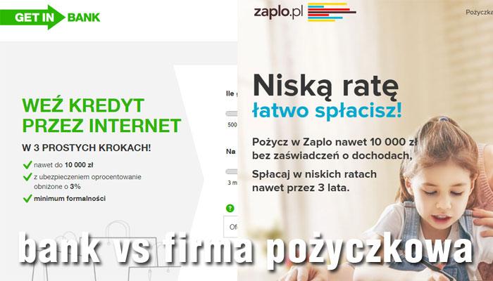 pieniądze przez internet w banku lub firmie