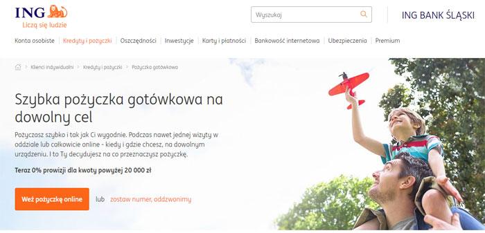 Kredyty na klik w ING Bank Śląski