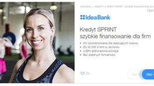 Kredyt Sprint - limit w rachunku firmowym 30 000 zł