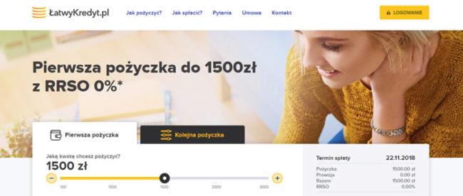 Darmowe Chwilówki 0 zł w firmie Łatwy Kredyt