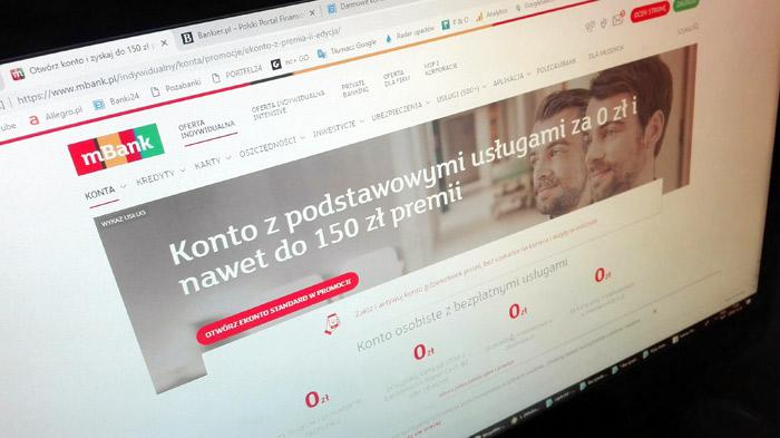 bezpłatne konto internetowe w mBanku