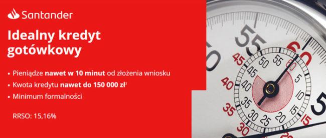 Idealny Kredyt Gotówkowy w Santander