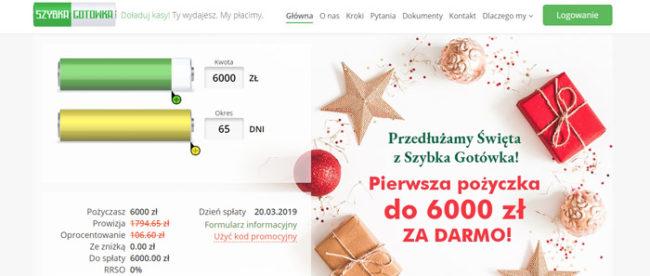 Szybka Gotówka na 65 dni za 0 zł