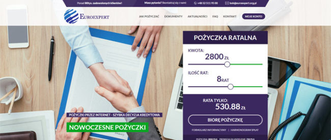 Euroexpert pożyczki online