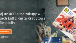 Karta podarunkowa Lidl w promocji Citi